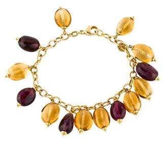 Syna 18K Citrine & Tourmaline Bead Bracelet