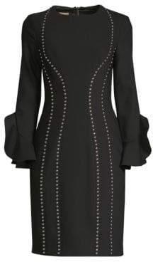 Michael Kors Studded Bell Sleeve Dress