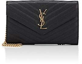 Saint Laurent Women's Monogram Leather Chain Wallet - Black