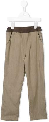 Familiar contrast waistband trousers