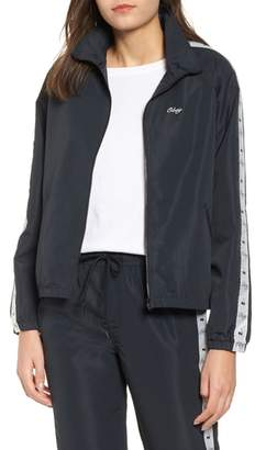 Obey Cerise Zip Front Logo Track Jacket