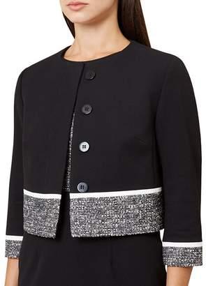 Hobbs London Robyn Tweed-Trim Jacket