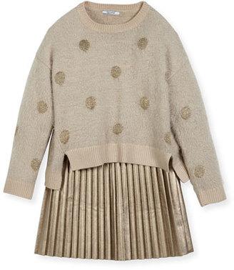 MAYORAL Metallic Polka-Dot Sweaterdress, Size 8-16 $75 thestylecure.com