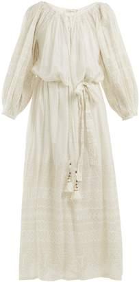 Mes Demoiselles Offrande gathered-detailed cotton dress