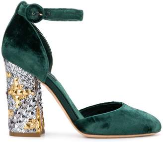 Dolce & Gabbana Pre-Owned 2000's studded chunky heel pumps