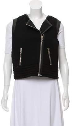 Rag & Bone Wool-Blend Leather-Trimmed Vest