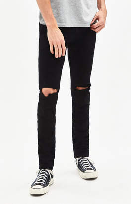 PacSun Stacked Skinny Ripped Black Jeans 96fb297dcb7f