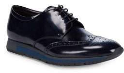 Prada Leather Oxford Sneakers