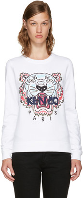Kenzo White Limited Edition Tiger Sweatshirt $265 thestylecure.com