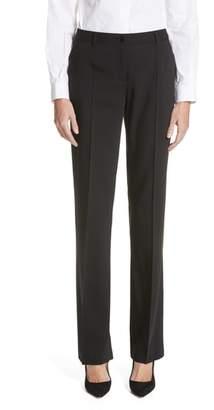 Dolce & Gabbana Straight Leg Stretch Wool Trousers