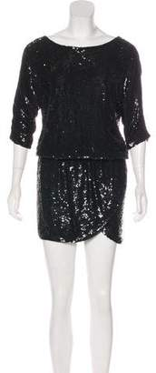Haute Hippie Sequined Silk Dress