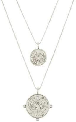 Luv Aj Double Coin Necklaces