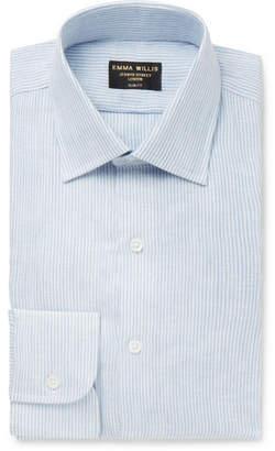 Light-Blue Striped Linen Shirt