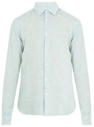 Orlebar Brown Morton Point Collar Linen Shirt - Mens - Green