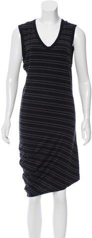 Alexander WangT by Alexander Wang Sleeveless Striped Dress