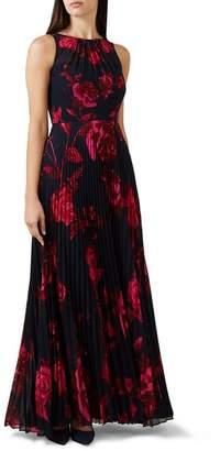 Hobbs Blue Floral Print 'Talia' Full Length Maxi Dress