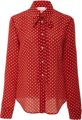 RED Valentino Polka Dot Tie Blouse