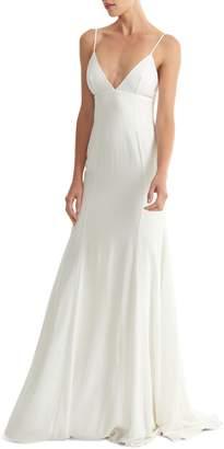 Joanna August Crosby Crepe Mermaid Gown