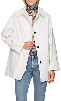 KASSL Women's Laminated Cotton-Blend Trench Coat - Oil White