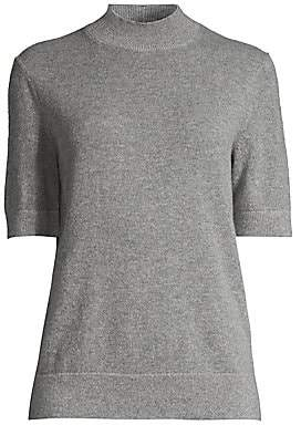 Lafayette 148 New York Women's Cashmere Short-Sleeve Turtleneck Pullover