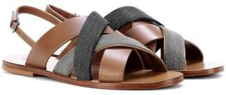 Brunello Cucinelli Monili-beaded leather sandals