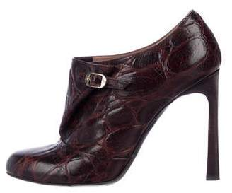 Emporio Armani Embossed Ankle Boots