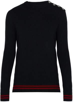 Balmain Striped cashmere jumper