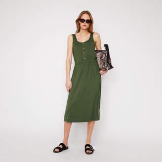 Warehouse Cami Button Through Midi Dress