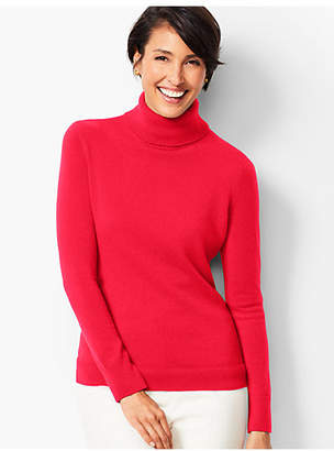 Talbots Cashmere Turtleneck Sweater - Solid