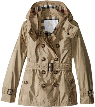 Burberry Kids - Grangemoore Checked Hood Jacket Girl's Coat $375 thestylecure.com