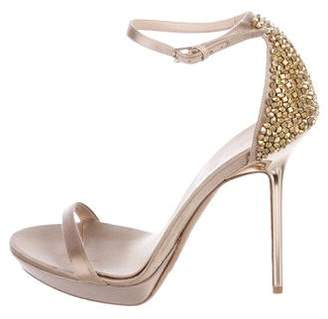 Burberry Satin Ankle Strap Sandals