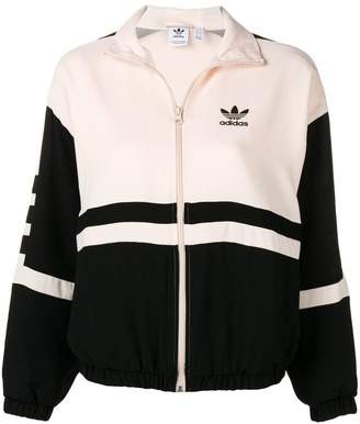 adidas two-tone logo bomber jacket