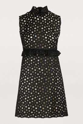Miu Miu Star detail mini dress