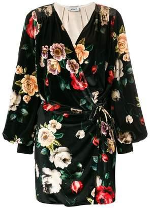 ATTICO floral print wrap dress