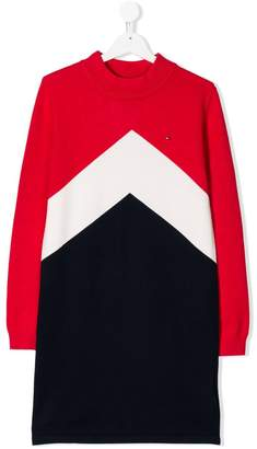 Tommy Hilfiger Junior TEEN chevron dress