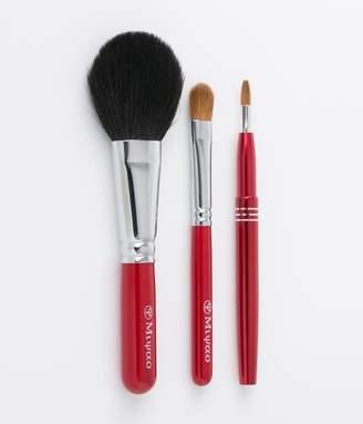 @cosme store online (アットコスメ ストア オンライン) - 高級熊野化粧筆3本セット【チーク・シャドー・リップブラシ】(レッドパール)