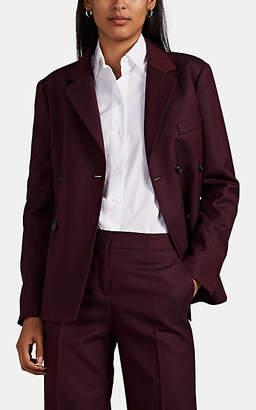 Barneys New York Women's Diamond-Jacquard Wool Double-Breasted Blazer - Wine