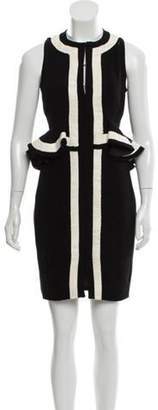 Altuzarra Knee-Length Peplum Dress Black Knee-Length Peplum Dress