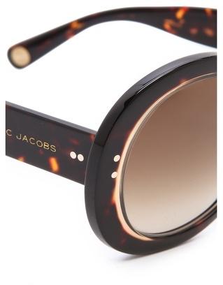 Marc Jacobs Translucent Round Sunglasses