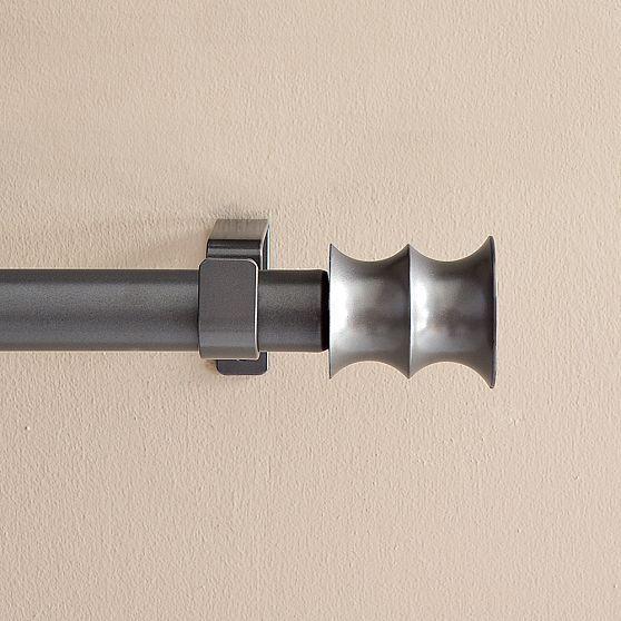 Metal Rod, Bamboo Finial