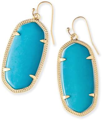 Kendra Scott Elle Gold Drop Earrings in Turquoise