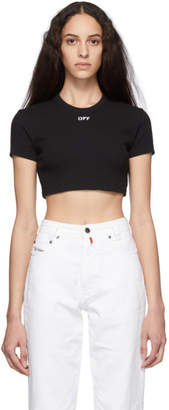 Off-White Black Cropped Tiny T-Shirt