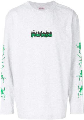 Palm Angels Dance of Death logo long sleeve T-shirt