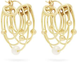 Ellery Classical Scaffolding hoop earrings