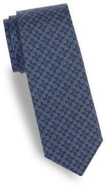 Saks Fifth Avenue Alternate Floral Silk Tie