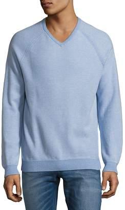 Tommy Bahama Men's Raglan-Sleeve Cotton Sweater