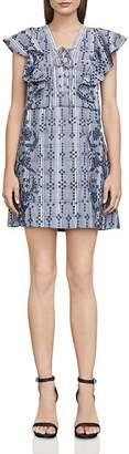 BCBGMAXAZRIA Caralyne Lace-Up Eyelet Dress