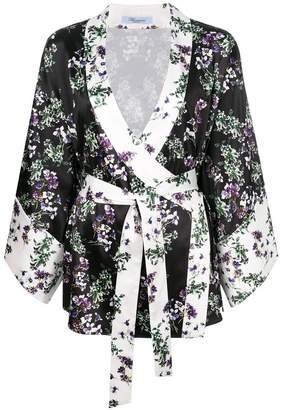 Blumarine floral wrap kimono