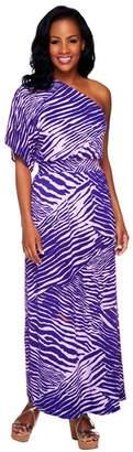 Lisa Rinna Collection Butterfly Sleeve Regular Maxi Dress