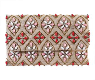 Tiana Designs Tiana Large Floral Rhinestone Clutch